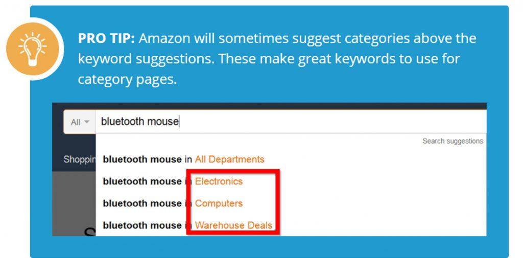 keywords Amazon suggests